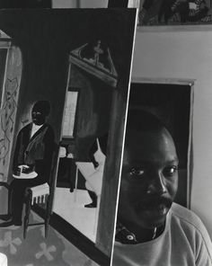 Jacob Lawrence New York NY 1959 | Arnold Newman -repinned from Los Angeles studio photographer http://LinneaLenkus.com  #photography