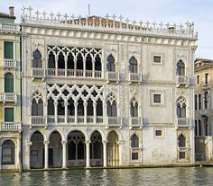 Ca' d'Oro, a beautiful venetian gothic palace in Venice, Italy.