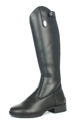 Stivali equitazione modello Derby da bambino, cerniera posteriore con  supporto elastico. Fodera in pelle