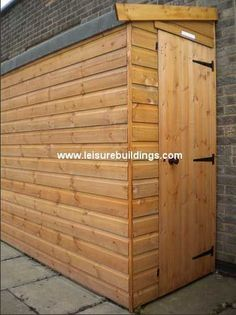 Kayak Storage Shed x Streamline narrow shed in T Shiplap cladding Narrow Shed, Narrow Garden, Garden Sheds For Sale, Painted Shed, Shiplap Cladding, Lean To Shed, Curved Pergola, Small Sheds, Shed Doors