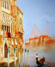 ''Brume sur le Grand Canal'' Georges Corominas