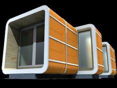 // Sliding Hubs Prefab Modular Housing Has 64 Different Combinations // Gabriel Aramu www.facebook.com/gabrielearamu