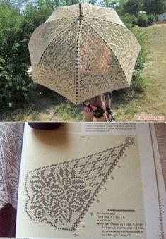 Filet Crochet, Easy Crochet, Crochet Lace, Crochet Stitches, Doily Patterns, Crochet Patterns, Ladies Umbrella, Crochet Butterfly, Barbie Dress