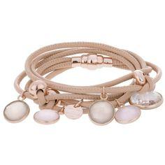 Marjana Von Berlepsch Beven Bracelet Nude in beige, Jewellery ($390) ❤ liked on Polyvore featuring jewelry, beige, charm jewelry, swarovski crystal charms, swarovski crystal jewelry and nude jewelry