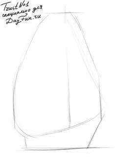 Как нарисовать паруса карандашом поэтапно 1