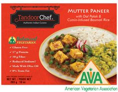 Pack Your Lunch Day 30: Tandoor Chef's Balanced Vegetarian Mutter Paneer is a delicious curry of peas, cheese, lentils and spinach with basmati rice - coming in at 390 calories!