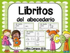 Libritos del abecedario (el alfabeto). Son 29 libritos para el repaso del abecedario y de los sonidos iniciales.                                                                                                                                                                                 Más