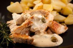 Morčacie prsia v syrovej omáčke Camembert Cheese, Good Food, Dairy, Healthy Food, Yummy Food