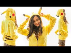 Pikachu Hoodie DIY - YouTube I accidentally found this trying to find how to sew a hoodie. This is randomly awesome.