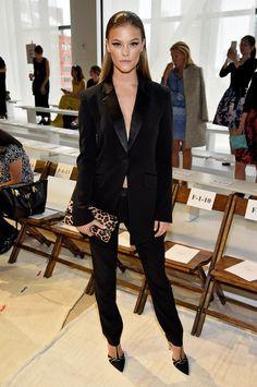 Nina Agdal à la Fashion Week de New York
