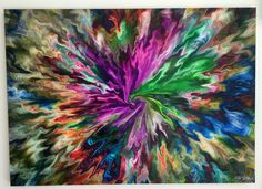 Gypsy Original art by Steve Luongo 55 x 39 x 1.5 Ink and acrylic on canvas with a gallery wrap.  The additional pictures are close ups of