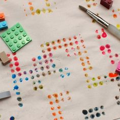 Lego lover?  Here's a great way to make modern, Lego prints with the kiddos!