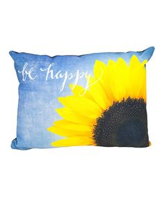 Loving this 'Be Happy' Throw Pillow on #zulily! #zulilyfinds