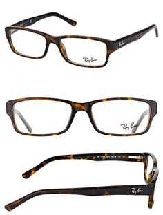 fe3d4153d95 Fashion Eyewear Clear Glasses 179244  Authentic Ray Ban Rx 5169 2012 Dark  Havana Plastic Rectangle Eyeglasses 54Mm -  BUY IT NOW ONLY   90 on eBay!