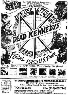 Rock Posters, Band Posters, Dead Kennedys, Punk Poster, New Flyer, Vintage Concert Posters, Poster Pictures, Punk Art, Music Photo