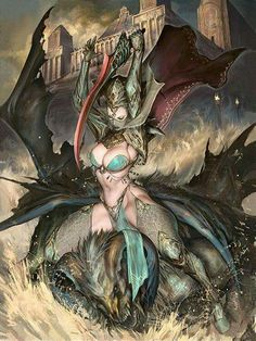 The amazing pin-up and fantasy themed illustrations of Puppeteer Lee a digital artist and illustrator based in Malaysia. Fantasy Warrior, Fantasy Girl, Chica Fantasy, Warrior Girl, Fantasy Women, Fantasy Rpg, Dark Fantasy, Comic Kunst, Comic Art