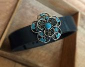 fitbit Flex Jewels for your Bracelet Turquoise Lace Flower jawbone up 24 Fuelband