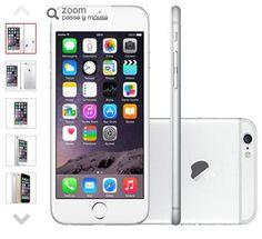 Americanas iPhone 6 128GB Prata iOS 8 4G Wi-Fi Câmera 8MP R$ 3.077,19