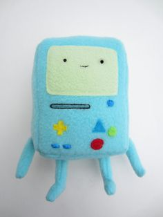 Adventure Time BMO Plush - with Velcro changeable faces?