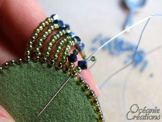Best 12 embroidery cabochon tutorial – crafts ideas – crafts for kids – SkillOfKing. Bead Embroidery Tutorial, Bead Embroidery Jewelry, Beaded Jewelry Patterns, Beaded Embroidery, Beaded Brooch, Beaded Earrings, Beaded Bracelets, Bead Jewellery, Seed Bead Jewelry