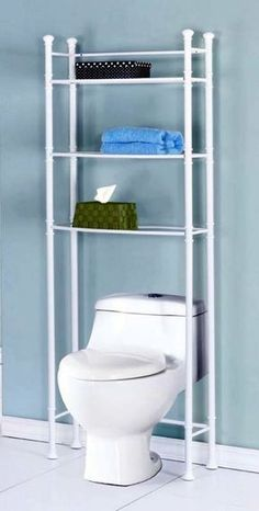 I've never considered building a shelf unit out of pvc pipe before. Bathroom Space Saver with Tempered Glass - White… Pvc Pipe Crafts, Pvc Pipe Projects, Diy Projects Cans, Cool Diy Projects, Wood Projects, Diy Pipe, Welding Projects, Pvc Pipe Furniture, Furniture Ideas