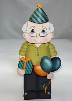 3D on the Shelf Card Kit - Little Party Old Man Mason