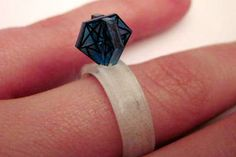 3 D Shrinky Dink Diamond Ring