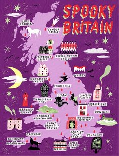 Haunted Britain: Explore our map Discover Britain's most haunted and spooky places to visit and even stay with our fun interactive map Oh The Places You'll Go, Places To Travel, Places To Visit, Map Of Britain, Visit Britain, Roman Britain, Great Britain, Spooky Places, Most Haunted Places