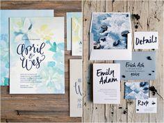10 inspirações de Convites Aquarela   Watercolor Invitations   Blog de Casamento DIY da Maria Fernanda