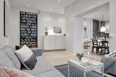 Ideas y almacenaje de un piso de estilo nórdico