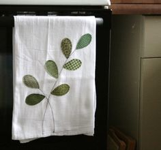 Flour sack towel applique