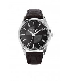 CERRUTI 1881 Classic Black Leather Strap Black Leather, Watches, Classic, Derby, Wristwatches, Clocks, Classic Books