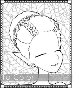 Retro Girl Pixie / Fairy Printable Coloring Pages for Adults, Fantasy, PDF / JPG, Instant Download, Coloring Book, Coloring Sheet, Grown Ups by ToColor on Etsy