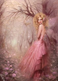 Another fairy Princess...she is of the Spring and leaves little pink flowers behind her as she goes from place to place in Fairyville.