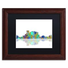 El Paso Texas Skyline by Marlene Watson Framed Graphic Art