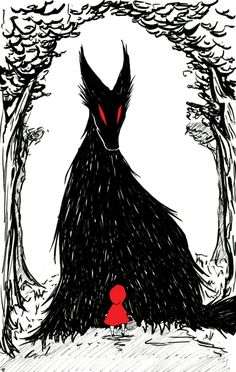 Red Riding Hood Art Print by DazedRainbowGoods on Etsy