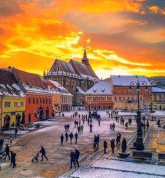 Brasov Romania, Visit Romania, Romania Travel, Autumn Scenery, Travel Abroad, Winter Scenes, Eastern Europe, Countries Of The World, Wonders Of The World