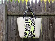 Canvas Tote | with lining, adjustable handles, and two exterior pockets (one on each center panel) {madeonmainvt}