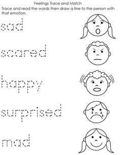 Resultado de imagen de feelings worksheet for kindergarten
