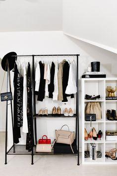 Clothes Rack Bedroom Diy Closet Organization Ideas For 2019 Closet Bedroom, Bedroom Decor, Clothes Rack Bedroom, Ikea Clothes Rack, Diy Clothes, Hanging Clothes, Closet Designs, New Room, Room Inspiration