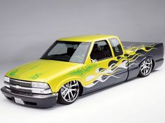 custom 1998 Chevrolet S10 Extended Cab front Drivers Side View