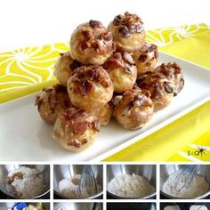 Maple Bacon Baked Donut Holes