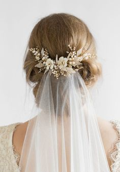 JASMINE wedding hair comb 1