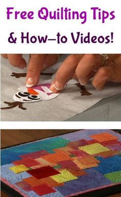FREE Quilting Tips and How to Videos for making adorable quilts!