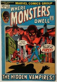 Vintage Comic Book Cover Art / Where Monsters Dwell