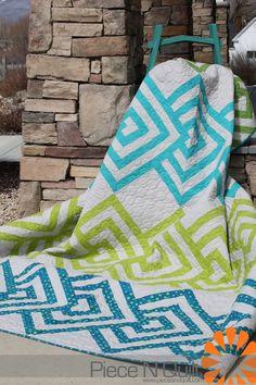 Piece N Quilt: Over Under ~ A Piece N Quilt Original Design #quilt