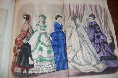 GODEY'S LADY'S BOOK - 1869 - COLOR FASHION PLATES