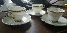 5th Ave arnart  china Richelieu Demitasse Cup and Saucer Set of 3