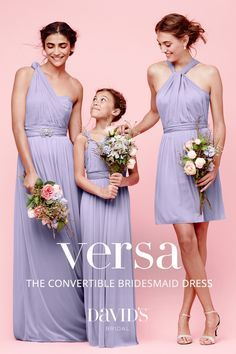 The style possibilities are endless with Versa, the convertible bridesmaid dress collection from David's Bridal!