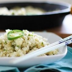 Jalapeno Ginger Cauliflower Rice...OMG I have seriously found a new obsession! Even if I still crave rice, I love cauliflower, so I would eat the shit out of this! lol
